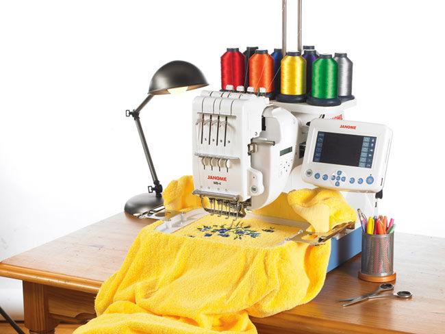 Организация процесса вышивания на машинке