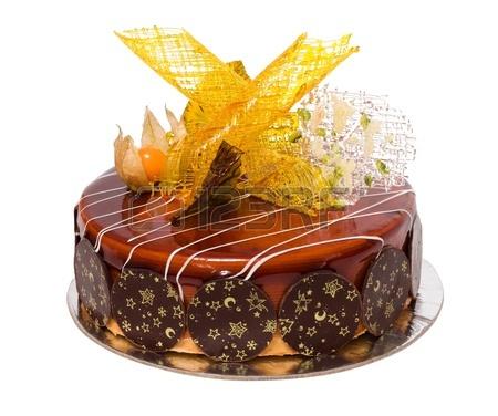 Украшение торта карамелью