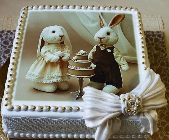 Украшение торта cъедобными фотографиями