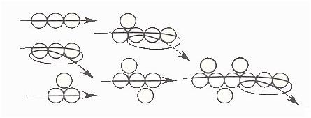 Схема плетения «зигзаг»