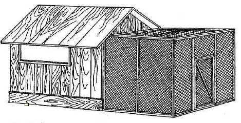 Схема крытого садового вольера